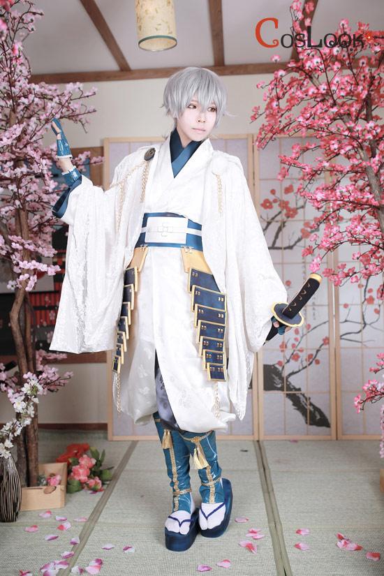 【coslook】刀剣乱舞「鹤丸国永」フードコートコスプ